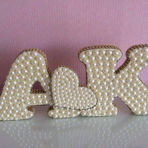#letraemmdf #letraemperolas #noivas #aniversario #decoracao #arte #artesanato #anapolis