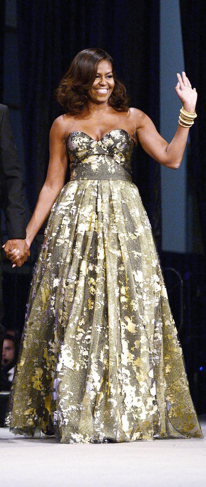 Michelle Obama in Naeem Khan                                                                                                                                                                                 More