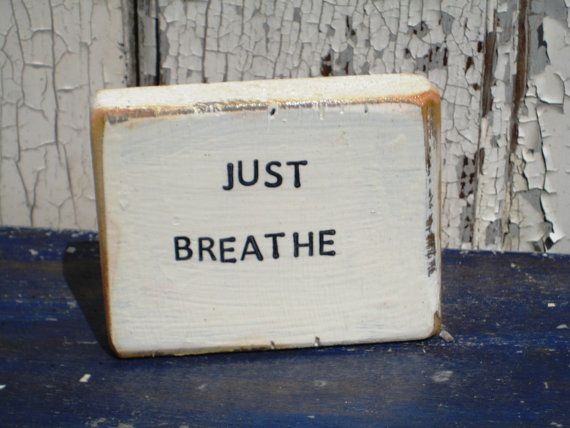 Hey, I found this really awesome Etsy listing at https://www.etsy.com/listing/242760730/shelf-sitter-breathe-sign-wooden-signs