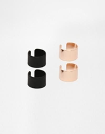 asos cuff earrings pack  multi #jewelry #accessories #earrings #covetme