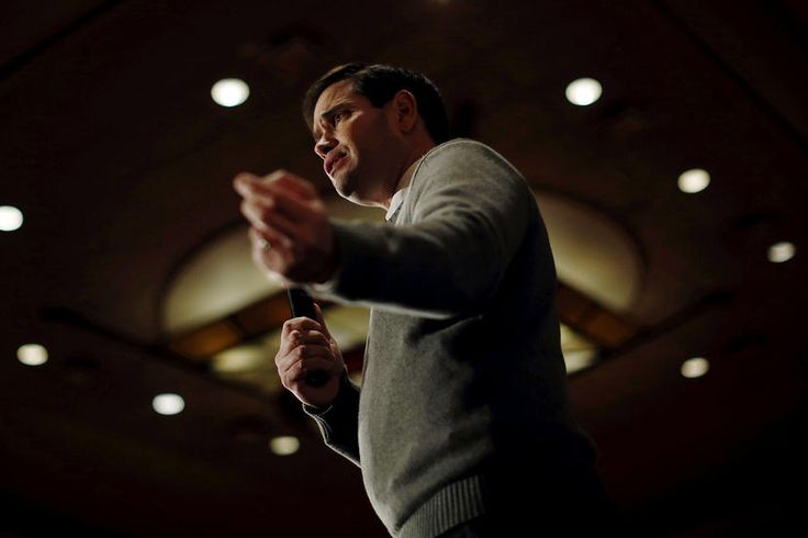 Republican presidential candidate Marco Rubio speaks at a campaign event in Coralville, Iowa, Jan. 18, 2016. (Photo by Jim Young/Reuters)