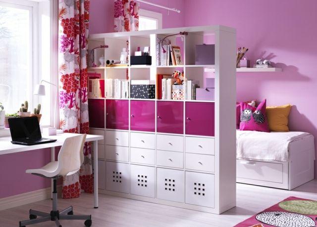 rosa Farbe Kinderzimmer Raum aufteilen