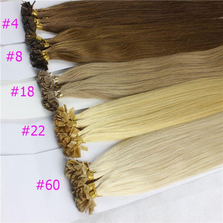 1 g/s 100g Ash Brown Platinum Blonde Remy Do Cabelo Humano Em Linha Reta Personalizado Cápsula de Queratina U tip-ou Apartamento-ponta Extensões de Cabelo Humano