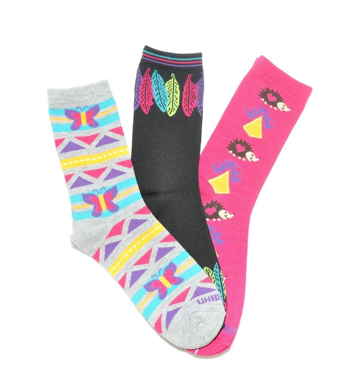 Tribal Crew Socks 3-Pack by @PacificLegwear for @UnionBay