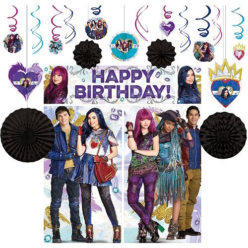The Descendants inspired Personalised stickers party bags birthday sweet cones