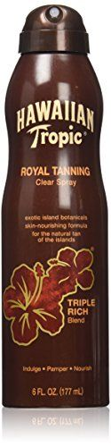 Hawaiian Tropic Royal Tanning Sun Care Spray Oil  6 Ounce Pack of 3 * You can get more details by clicking on the image.
