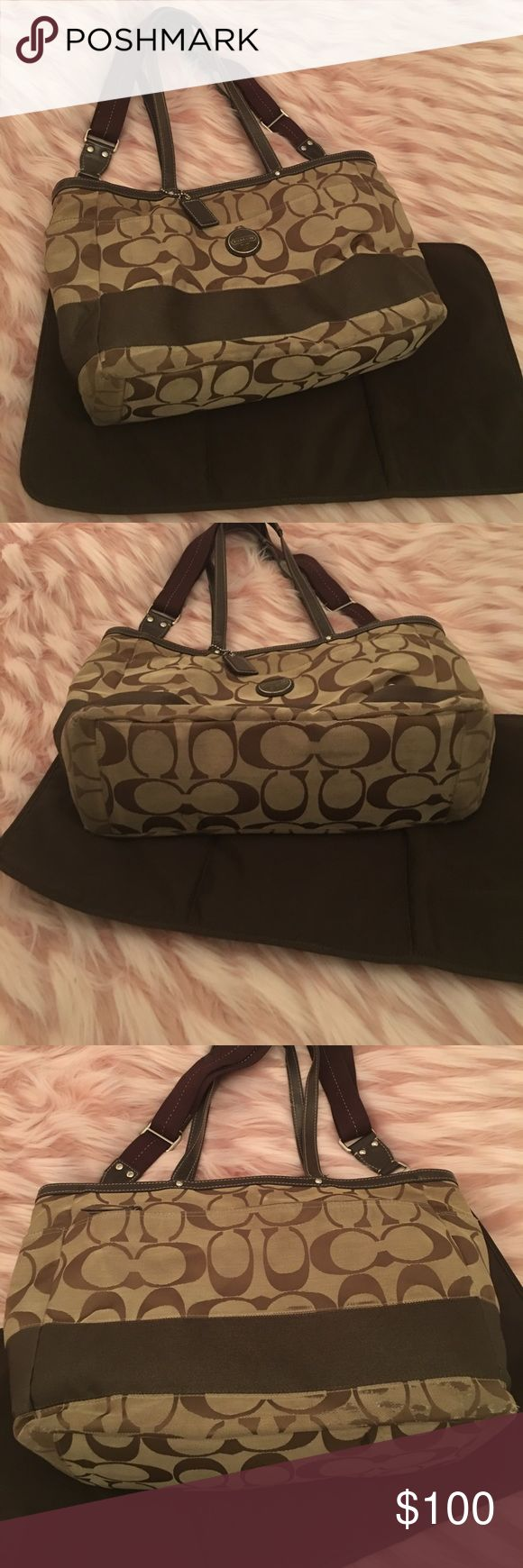 Coach Diaper Bag In good used condition. Comes with changing pad. Coach Bags Baby Bags