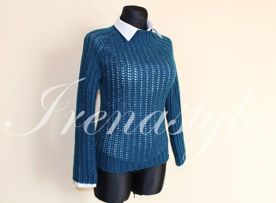 Wool sweater ,   crochet handmade , custom made
