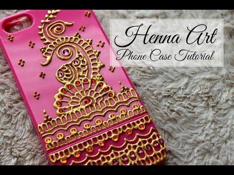 DIY Easy Henna Design Phonecase   Henna Art by Aroosa - YouTube
