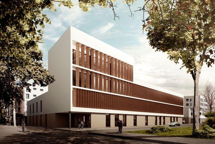 Exterior moderno edificios via planreforma dibujos for Exterior edificios