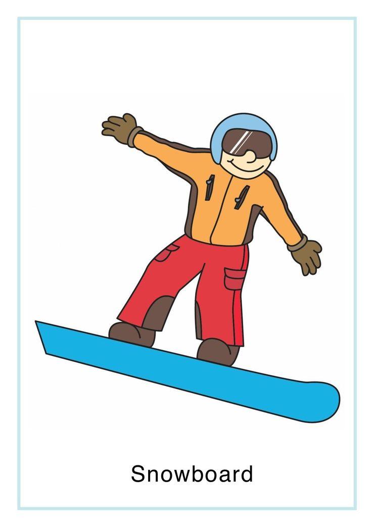 Zima: sporty zimowe do wydruku 12