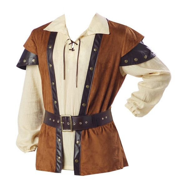 Men Medieval Tunic found on Polyvore featuring mens, men's clothing, men's shirts, medieval, men, fantasy and shirts