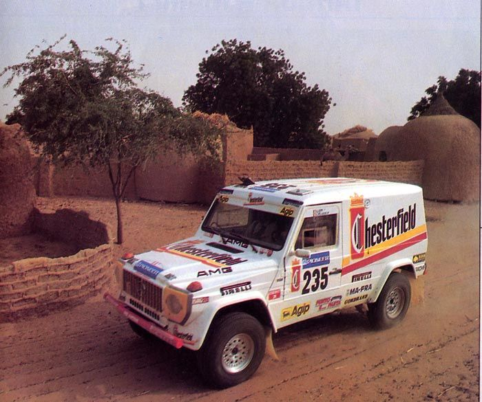 Klaus Seppi Grazziano Pelanconi Mercedes 600 Ge Dakar