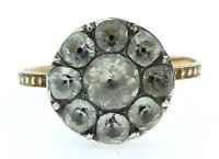 A Magnificent Georgian 5ct Paste Cluster Ring Circa 1790's