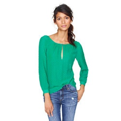 I heart GREEN!  Would look divine with leopard print shoes. . .