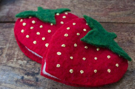 Delicious Strawberry Needlebook/ Travel by LittleHouseHomeArts