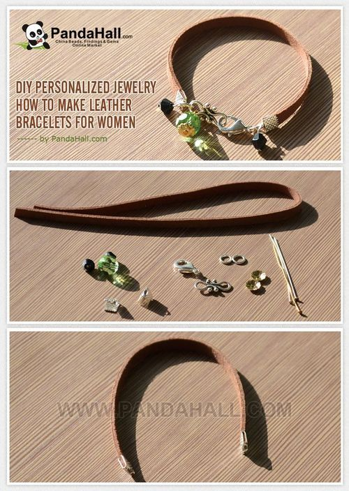 Jewelry Making Tutorial-How to Make Leather Bracelets for Women   PandaHall Beads Jewelry Blog