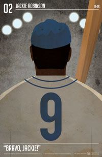 Jackie Robinson, one of 13 limited edition Heritage Minute posters.
