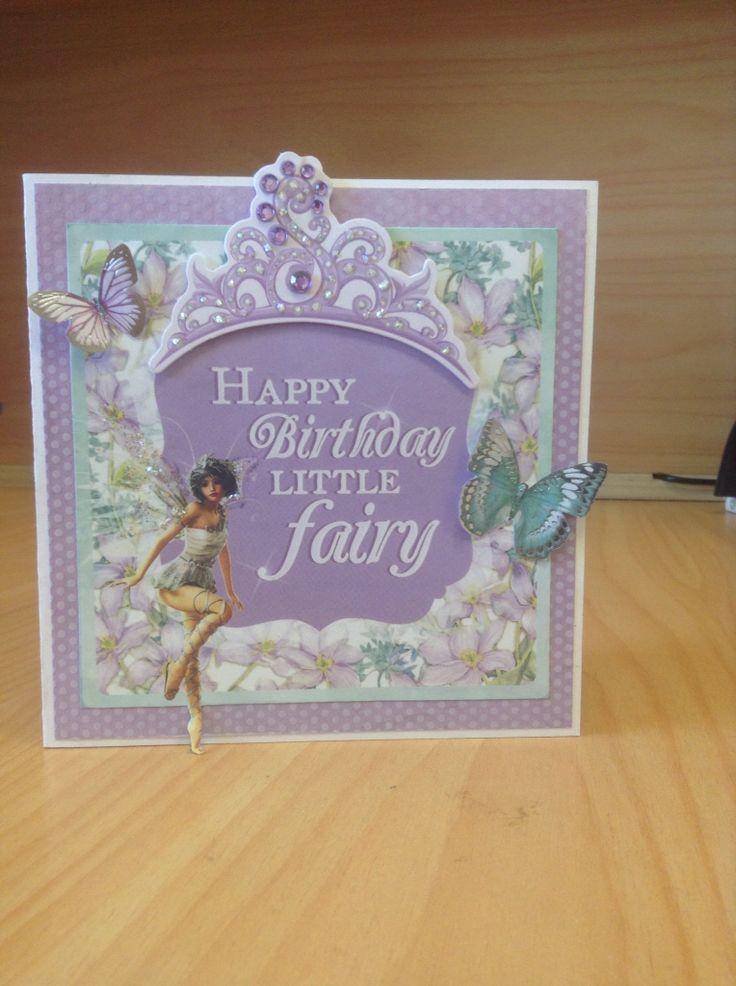 4year old birthday card using Kaisercraft Fairy Dust