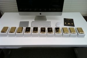 24ct gold plated apple ipod shipment