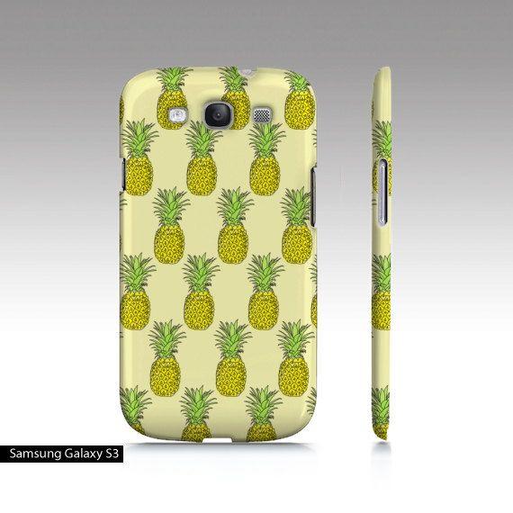 Pineapple Set  Samsung Galaxy S3 S4 Device Hard by NobodyisUgly, $24.00