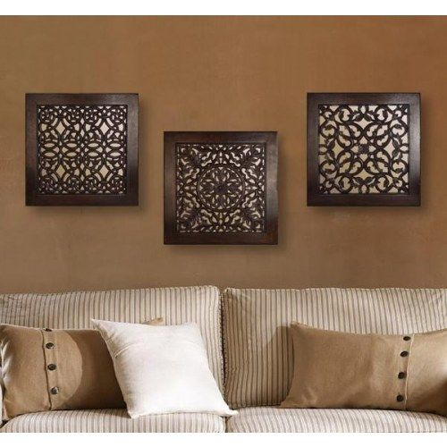 Square Wall Art- Brown