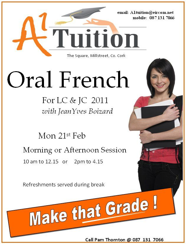 french language teaching french learn french flyer template coaching centre