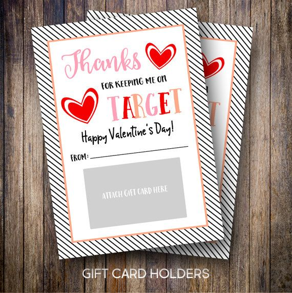 Spotted Gum Design | Printable 5x7 Thank You Gift Card Holders, Valentine's Day, Target Gift Card, Target Teacher's Gifts - Stacked Hearts - INSTANT DOWNLOAD #etsy #spottedgumdesigns #inglishdigidesign