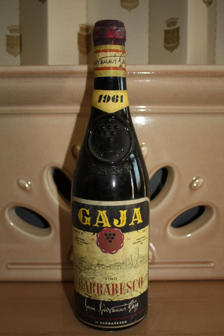 Vino Barbaresco doc Gaja annata 1961 , rarissimo !! di BAROLODOC su Etsy