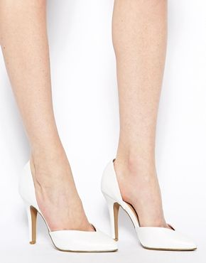 Image 4 of New Look Say Two Part White Pumps