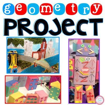 This Geometry project is great for group projects or an at home project. A differentiated rubric is included as well as a glossary of every vocabulary terms used in the project. Some geometric terms used in the project include:-Line-Ray-Line Segment-Perpendicular Lines-Parallel Lines-Intersecting Lines-Circle-Symmetrical Objects-Quadrilaterals-Right Angles-Acute Angles-Obtuse angles-Hexagon-Pentagon-Octagon-Right Triangle-Isosceles Triangle-Equilateral Triangle-Congruent…
