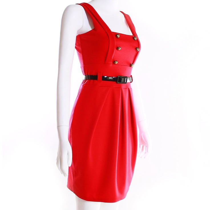 Monkeying About Ladies Bodycon / Nautical / Posh / Retro Look Fitted Belt Dress £29.95