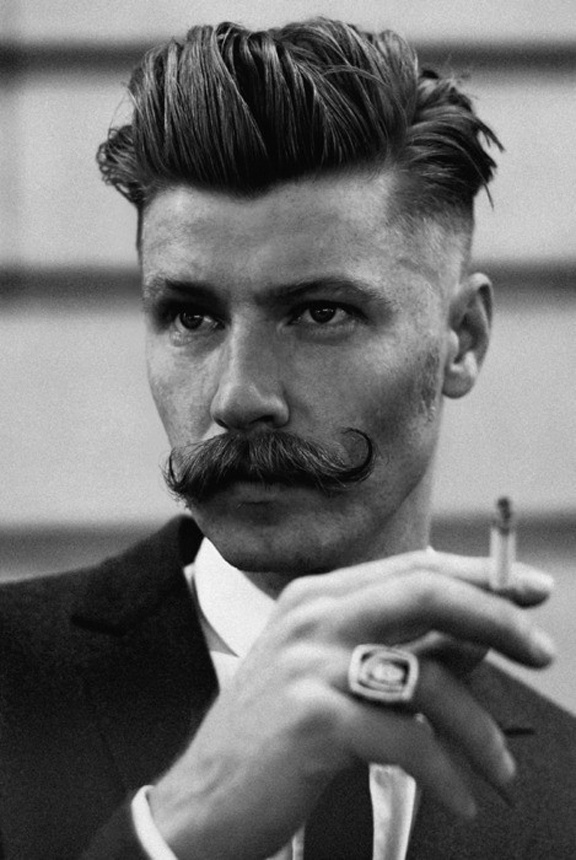 smoking is bad for you but a mustache is quite good