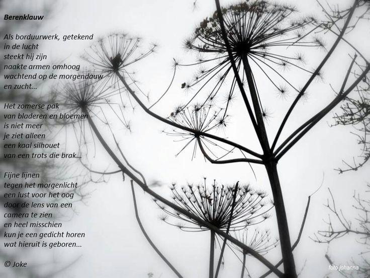 Bereklauw met gedicht