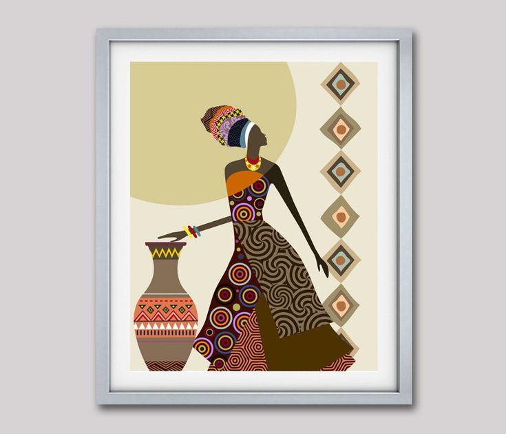 Arte africano de Afrocentric arte arte de mujer africana