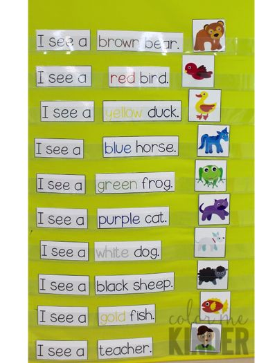 Brown Bear Pocket Chart Activity