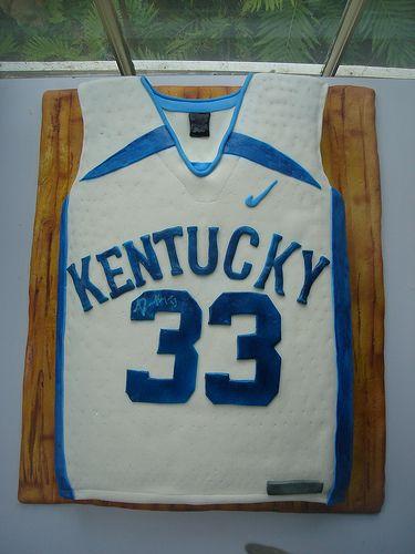 Kentucky Basketball Jersey Cake