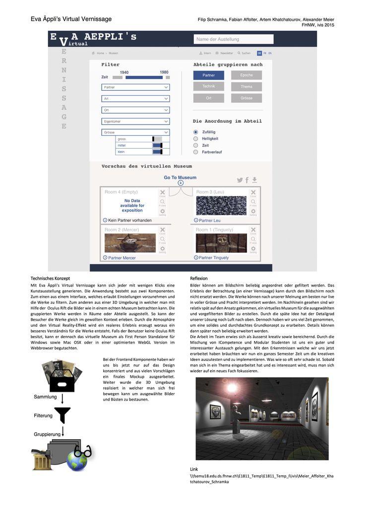 Eva Aeppli's Virtual Vernissage | Alexander Meier, Filip Schramka, Fabian Affolter, Artem Khatchatourov