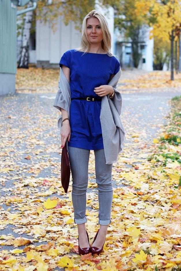 Dress: LiLLE / Jeans: HM / Scarf: HM / Clutch: Massimo Dutti / Shoes: Diavolina