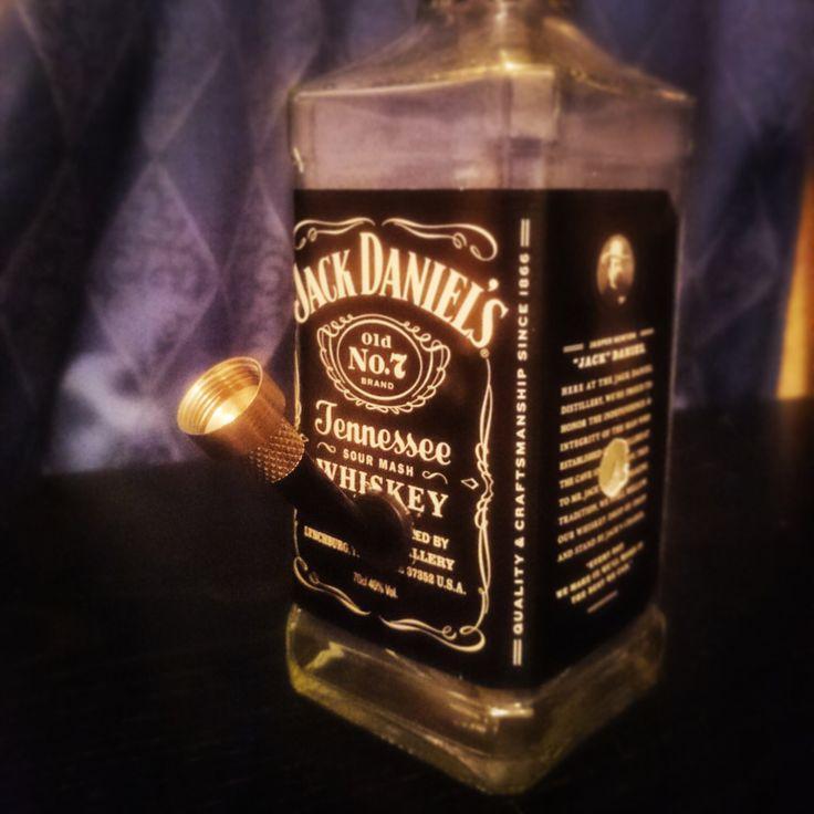 Jack Daniels bottle Bong by ReclaimersWales on Etsy https://www.etsy.com/listing/222024032/jack-daniels-bottle-bong