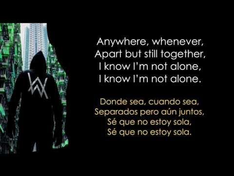Alan Walker - Alone Lyrics Español/ Inglés. - YouTube