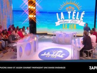 La télé même l'été, le jeu : Julien Courbet et Capucine Anav partagent une danse endiablée (vidéo)