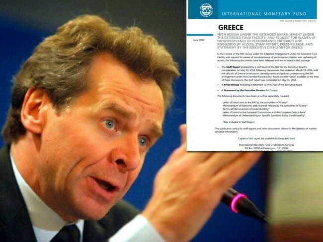 ΤΟ ΚΟΥΤΣΑΒΑΚΙ: Έκθεση ΔΝΤ : Τα βάσανα των Ελλήνων τελειωμό δεν έχ... Κάντε μεταρρυθμίσεις ή πάμε σε μειώσεις μισθών και συντάξεων είναι το δίλημμα- εκβιασμός που για άλλη μια φορά θέτει το ΔΝΤ μέσω της έκθεσης που δόθηκε πριν από λίγο στη δημοσιότητα. - Η έκθεση κατεβάζει πολύ χαμηλά τον πήχη αισιοδοξίας του Σαμαρά και της κυβέρνησης.