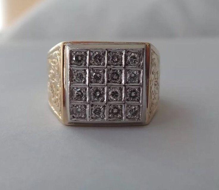 Unique Custom Handmade Solid 18K 750 Gold Diamond Ring Size 8 5 US | eBay