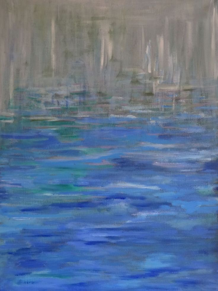 abstract landscape  acryl 50x60