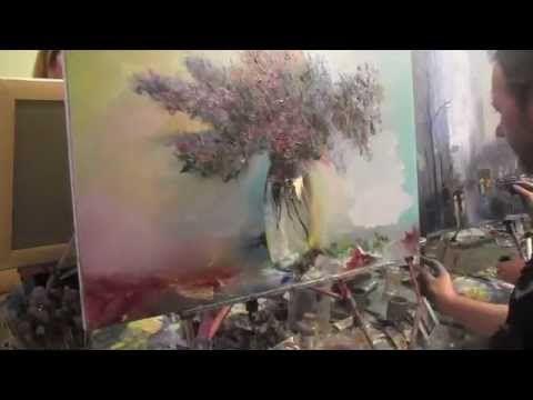 Игорь Сахаров, полный видеоурок, пишем букет, художник Сахаров