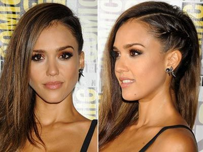 Try Jessica Alba's faux undercut to get the look without the commitment.