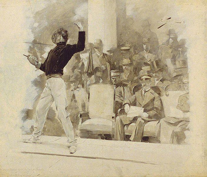1896 olympialajina oli myös miekkailu. Muita olympialajeja olivat yleisurheilu, pyöräily, voimistelu, ammunta, uinti, tennis, painonnosto ja paini.