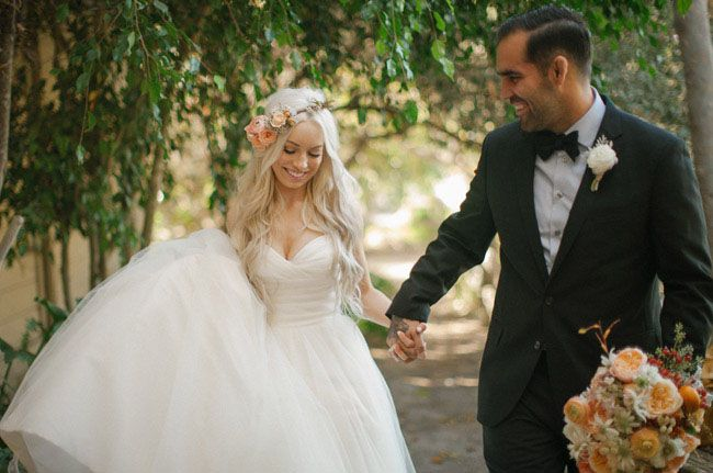 Tonnevis med inspirasjon fra dette fantastiske bryllupet i California!