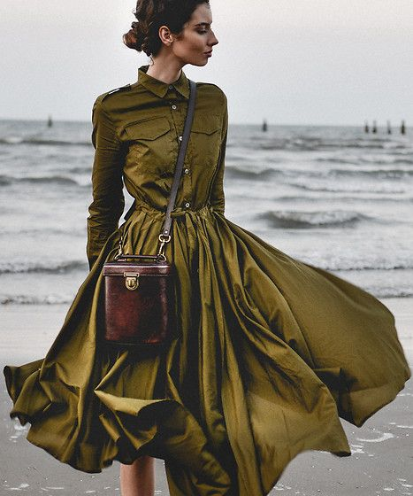 Get this look: http://lb.nu/look/8485077  More looks by Elle-May Leckenby: http://lb.nu/ellemay  Items in this look:  Metisu Placket Pleated Swing Midi Dress, Https://Bearabeara.Co.Uk/ Alex Cylinder Bag   #chic #elegant #romantic